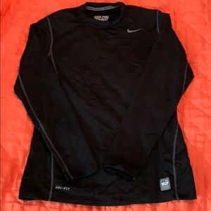 Black nike fitted compression shirt